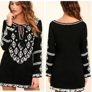 LuLu's Embroidered Dress size S